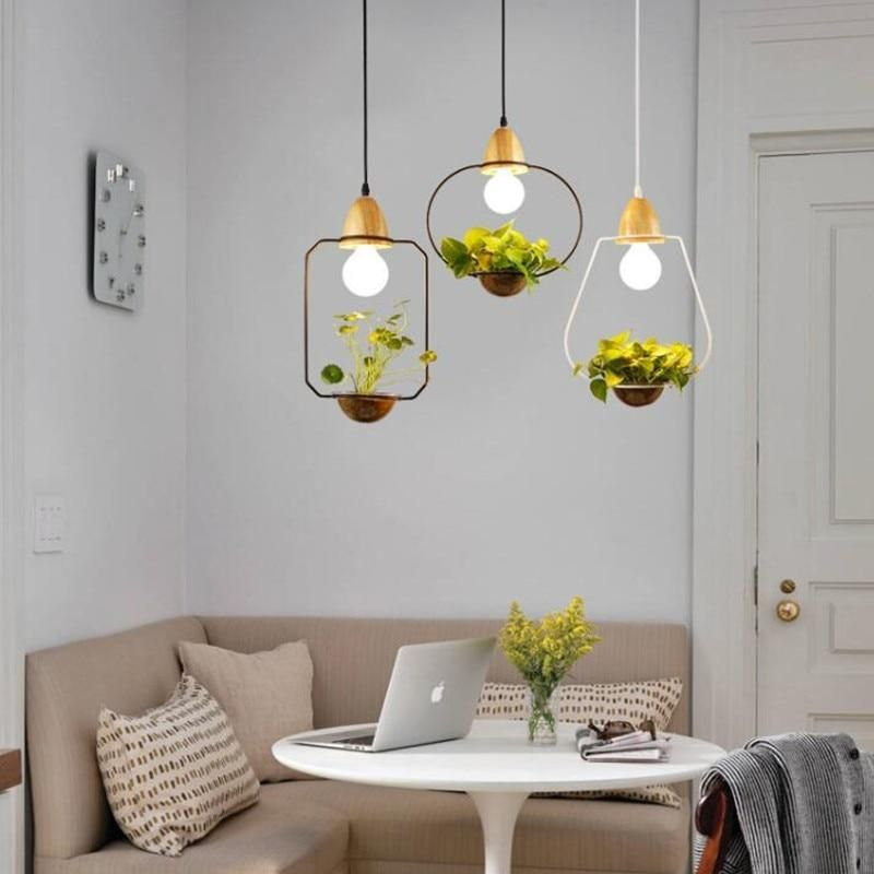 Zox Modern Nordic Iron Pendant Planter Lamp In 2020 French Country Decorating Hanging Plants Natural Home Decor