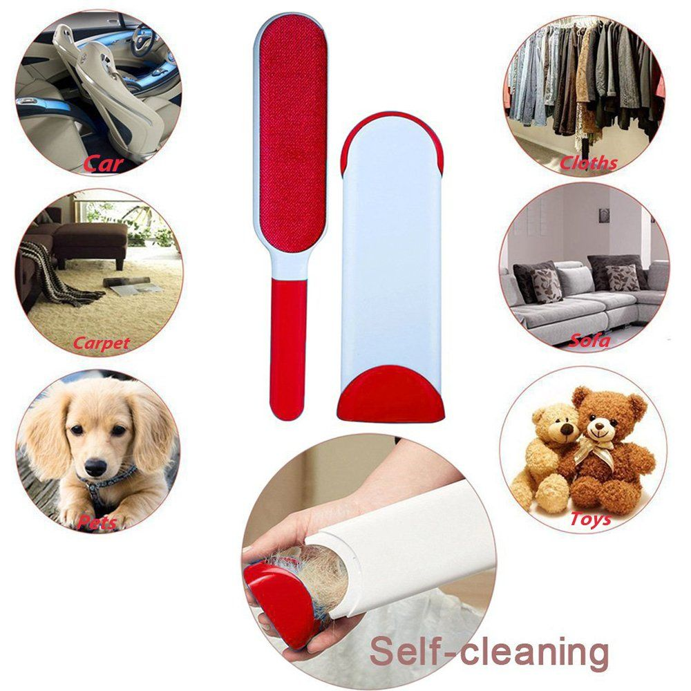 Fanme Pet Fur Remover Dog Cat Hair Dust Remover Brush for