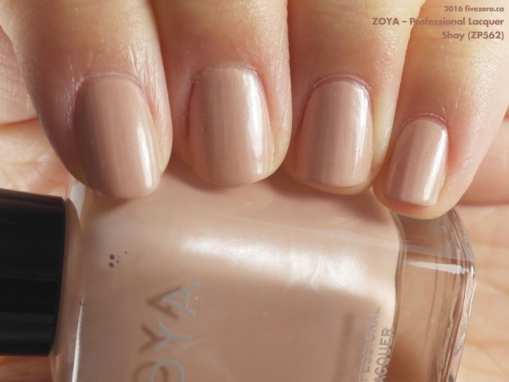 Zoya Professional Lacquer in Shay (swatch by fivezero.ca) [beige, tan]