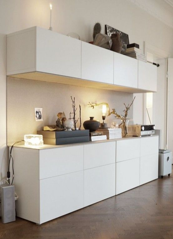 Stacked IKEA Besta Units In A Bedroom   DigsDigs