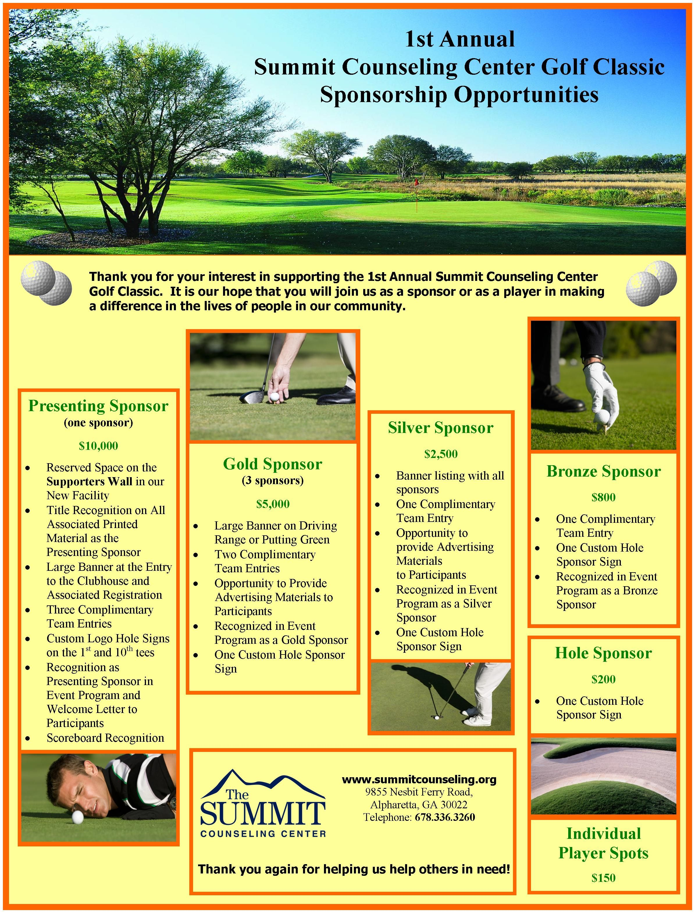 Summit counseling center annual golf tournament fundraiser brochure summit counseling center annual golf tournament fundraiser brochure spiritdancerdesigns Choice Image