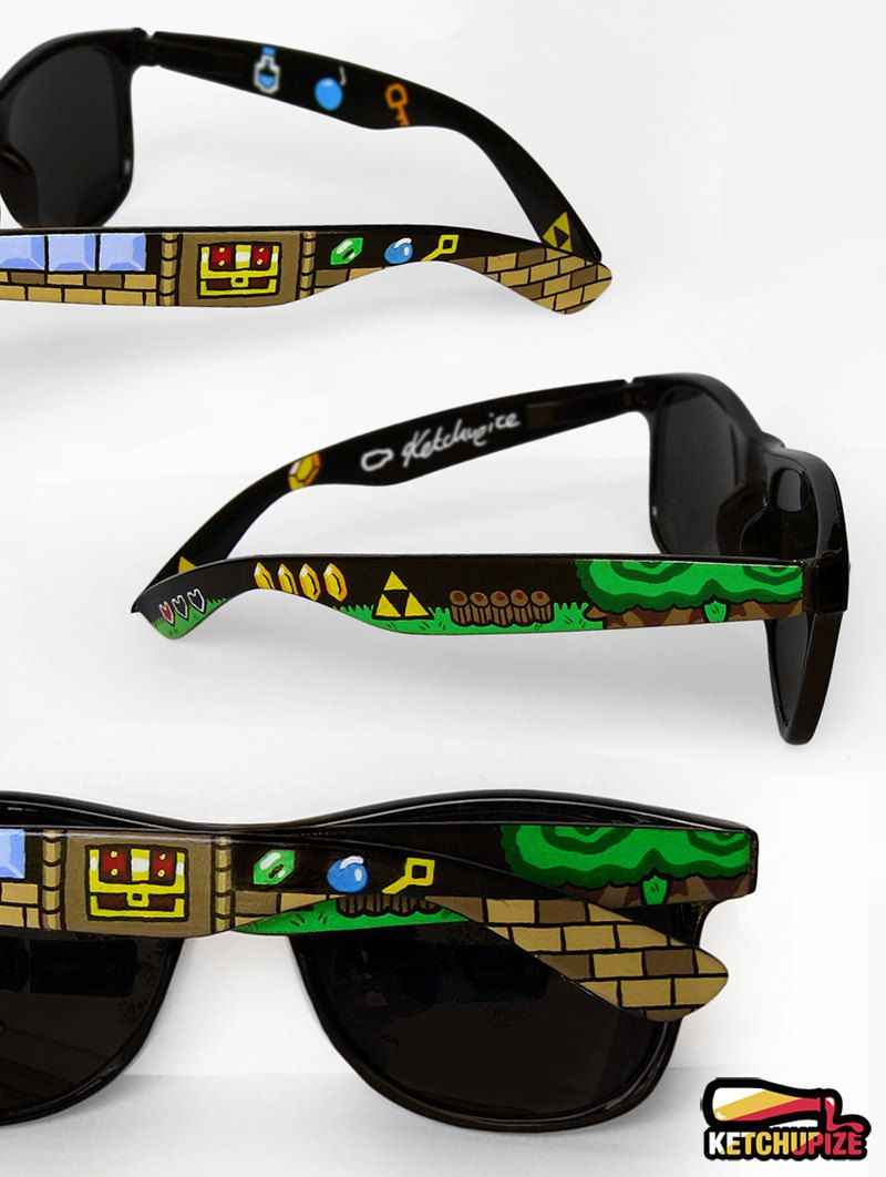 85a535e8d9 Legend of Zelda custom sunglasses gift for nerd unique video game ...