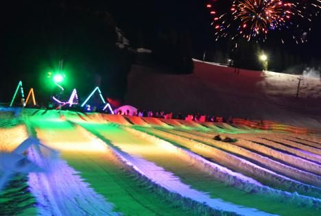 Cosmic Tubing at Ski Bowl! Like a dance party on the slopes! Ask