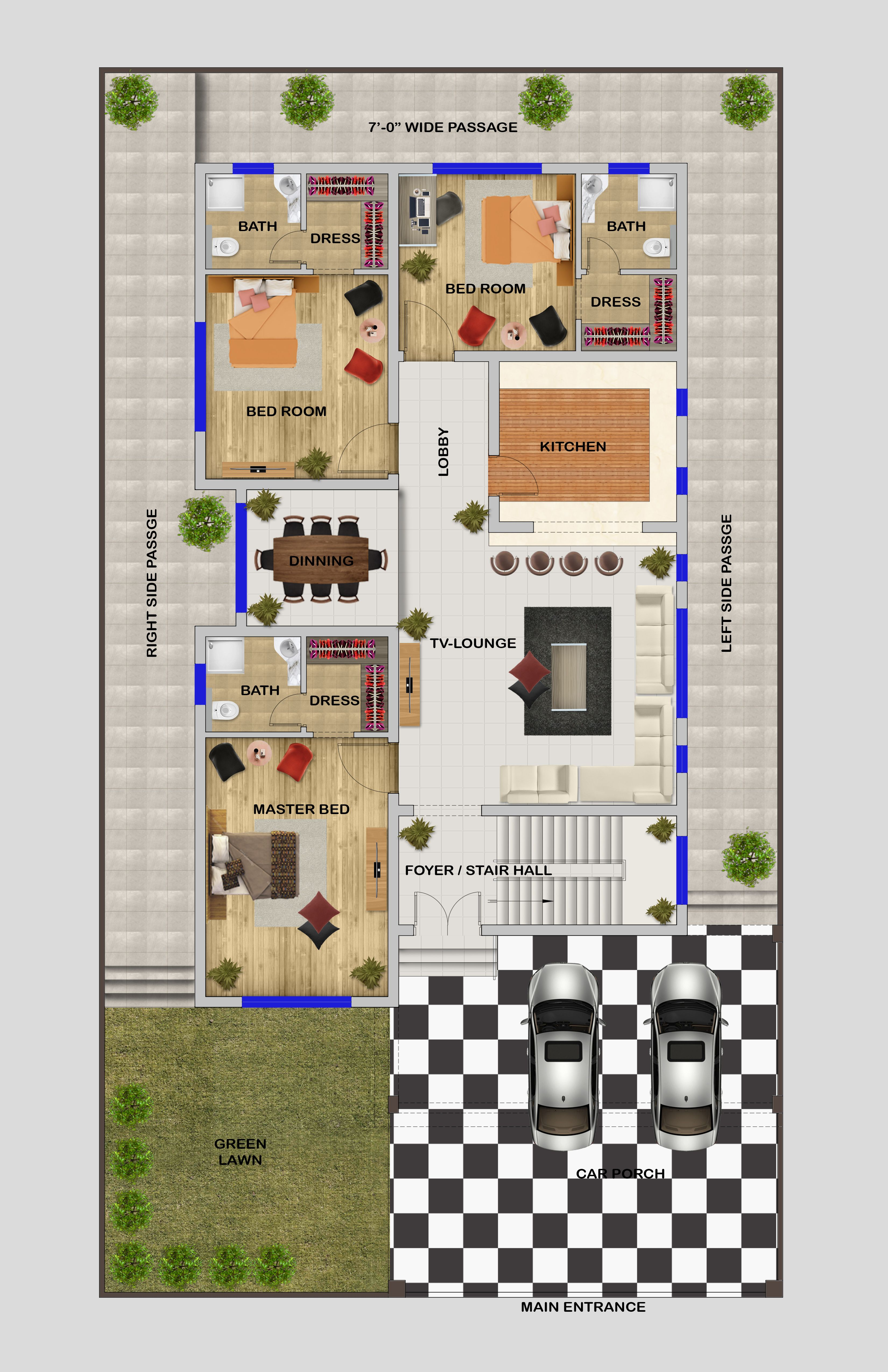 Architectural Ground Floor Plan In Autocad 2014 And Make A Floor Plan Design In Photoshop Cs6 Floor Plan Design Floor Plans Plan Design