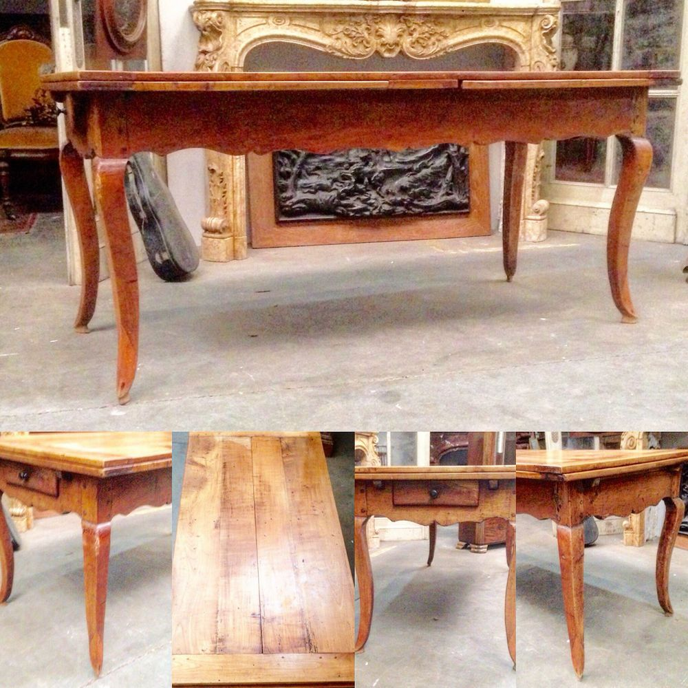 Table De Ferme En Merisier Massif Pieds Biche Allonges A L Italienne Xix Siecle Table Entryway Tables Home Decor