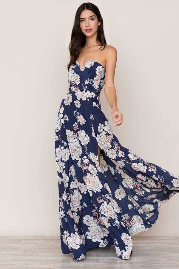 551e59bcd4f3 Mischief Silk Maxi Dress   My closet   Blue floral maxi dress ...