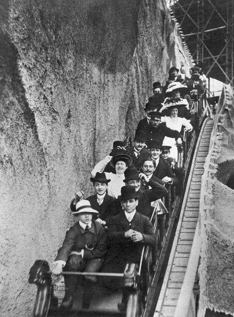 Berlin Gebirgsbahn Im Luna Park Um 1912 Historische Bilder Kaiserreich Deutsche Geschichte