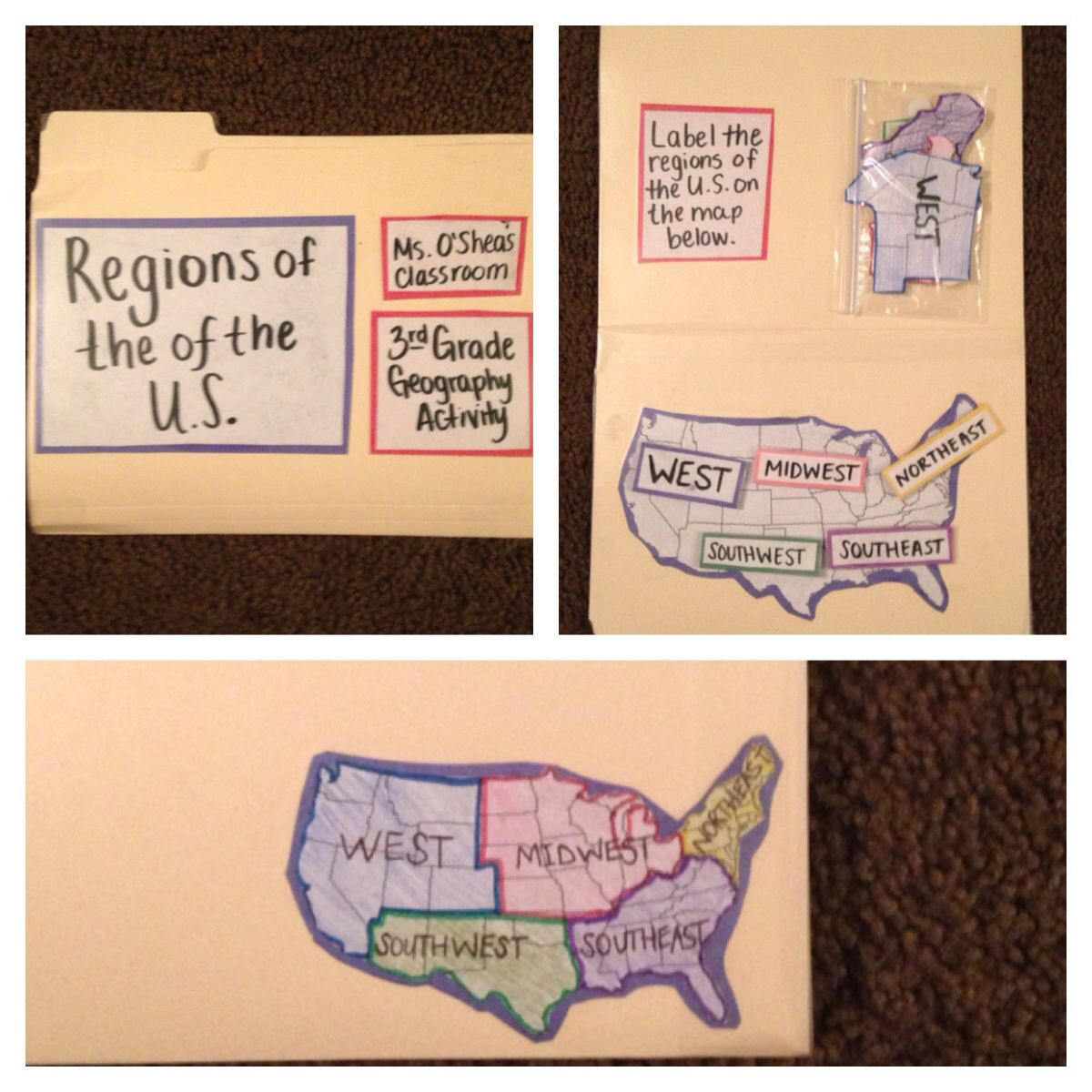 Regions Of The United States 2nd Geography Activity