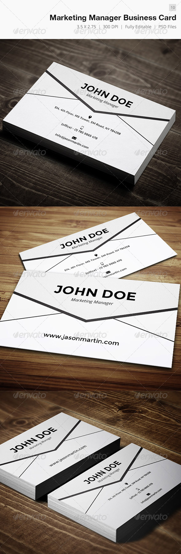 Marketing Manager Business Card 10