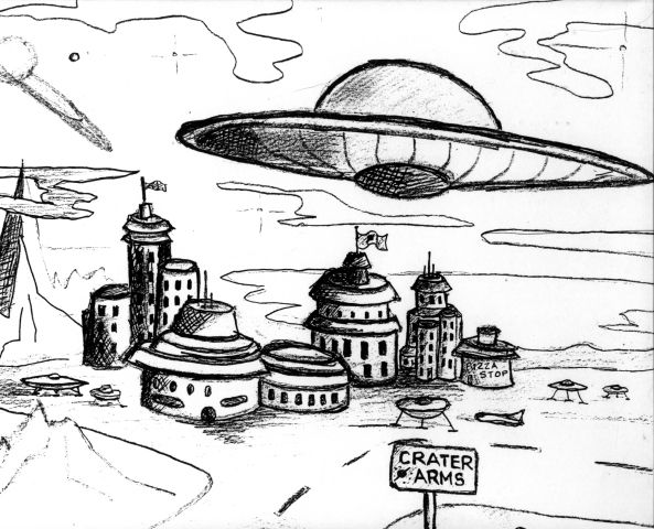 Roswell Ufo Crash Aliens Flying Saucer Coloring Book