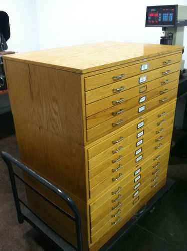 Charrette Blueprint Drawer Drafting Map Blue Print Drawing Art Storage Cabinet | eBay
