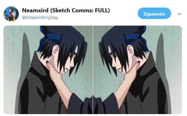 Double choke   Sasuke Choke Edits   Funny naruto memes ...