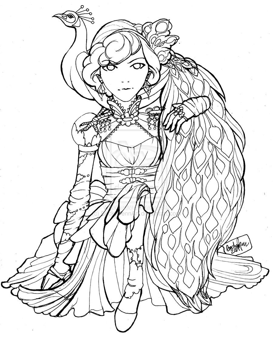 peacock by beckypennart on deviantart coloring pages colouring