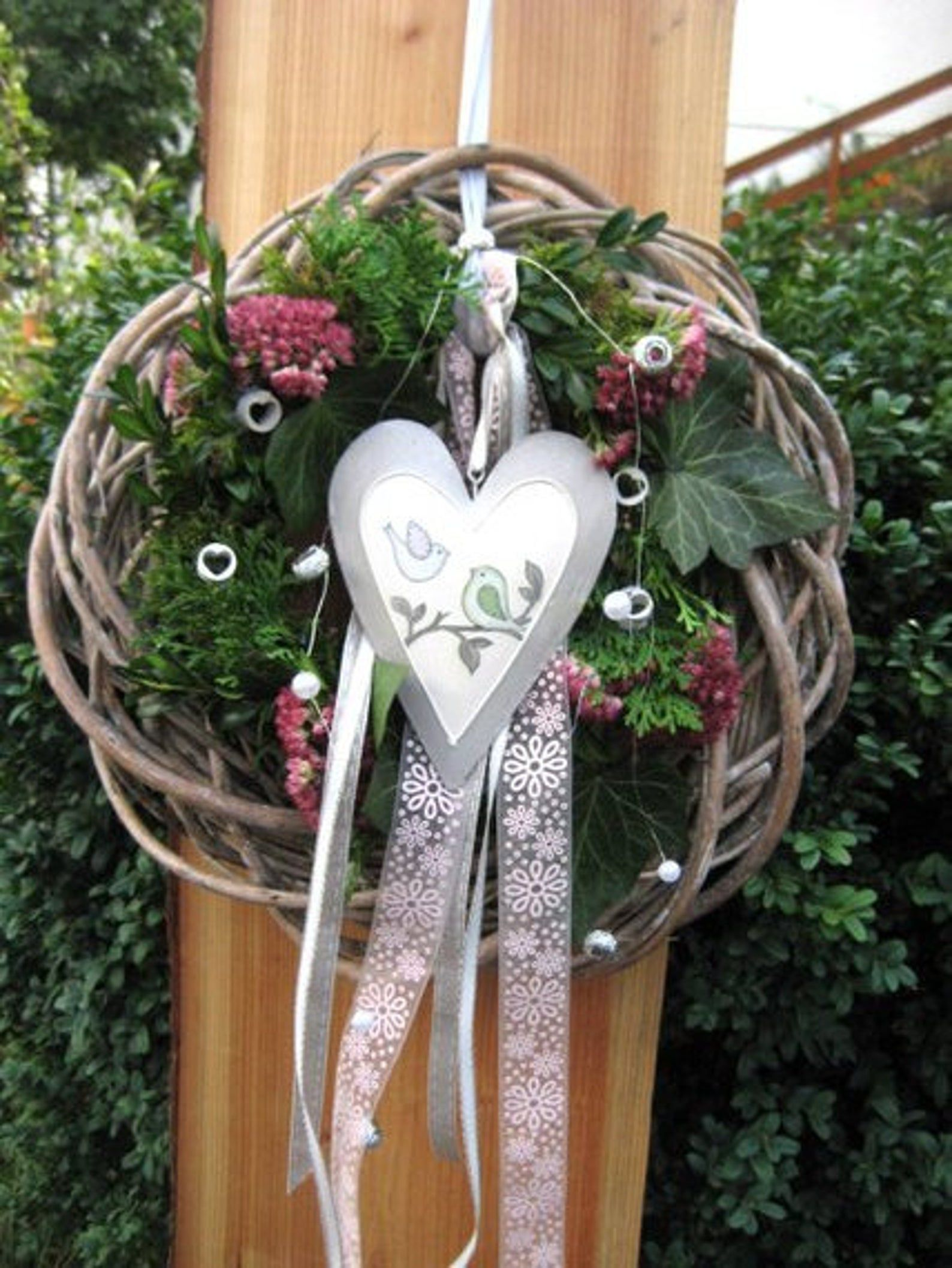 gift idea autumn spring entrance decoration XL shabby vintage country house door wreath HOME Christmas door decoration interior and exterior decoration summer
