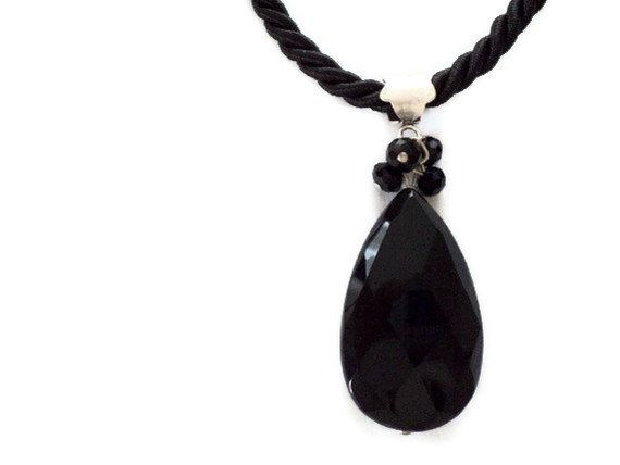 HANDMADE Natural stone necklace / onyx necklace / by fundademircan, $18.00