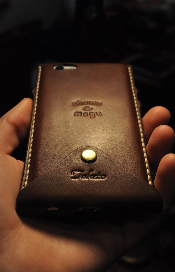 iphone 6 leather cover + custom : S&Mな日々