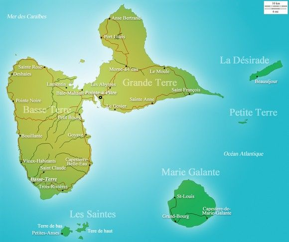 Découvrez chaque île qui compose l'archipel de la Guadeloupe