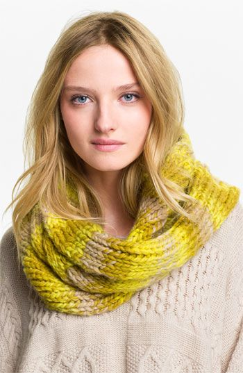 Echo Space Dyed Cable Knit Infinity Scarf - Knitting Idea too