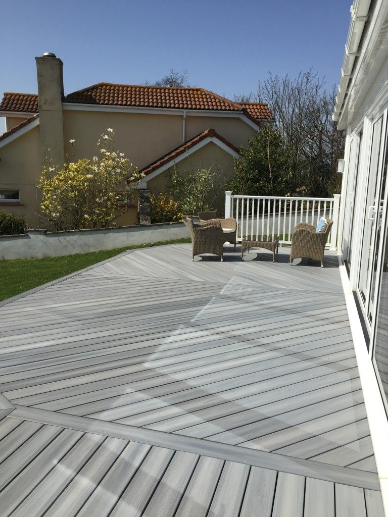 fiberon composite #decking in horizon castle gray | composite