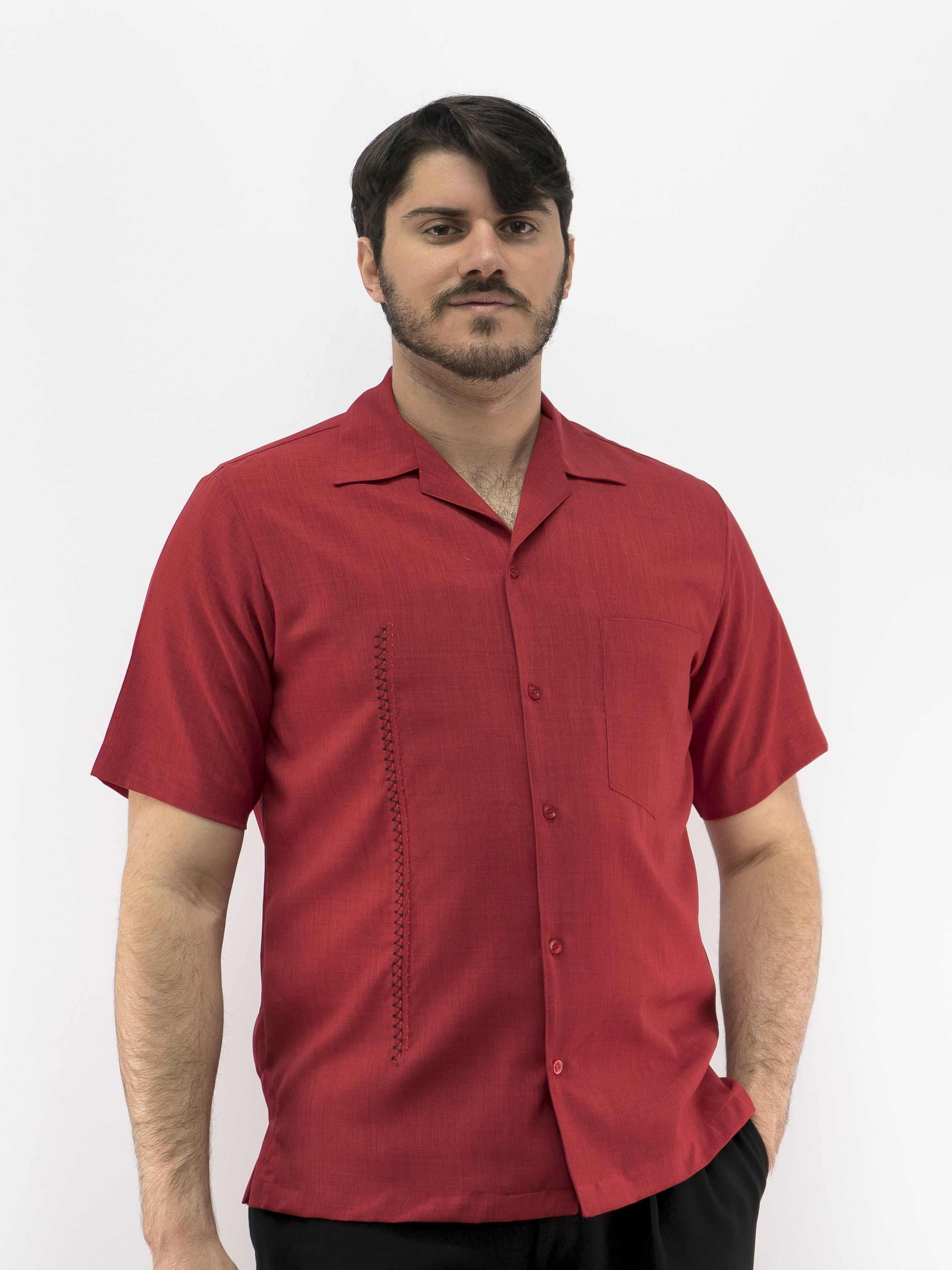 691bd3a037 D Accord Men s Casual Shirt Red 5974