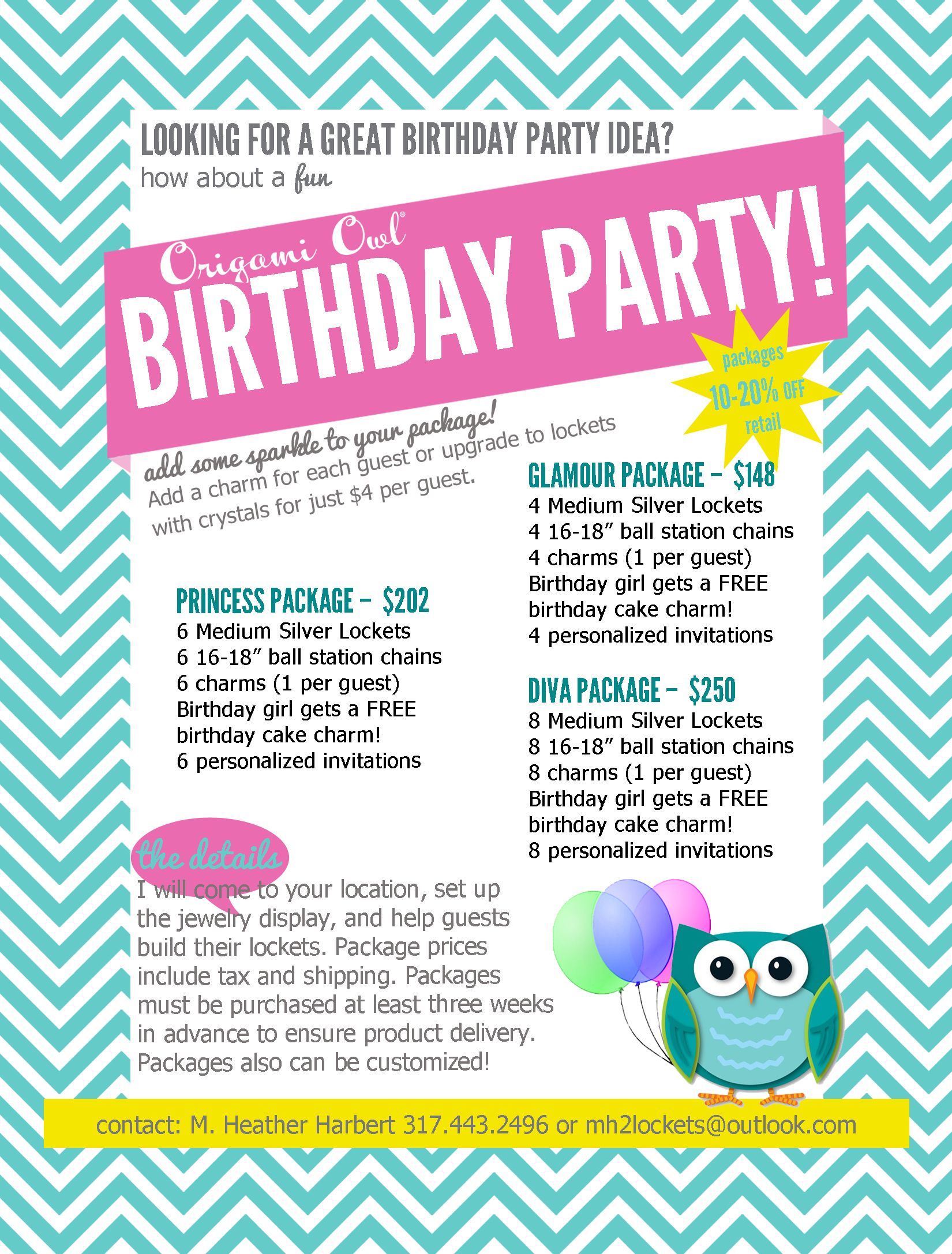 Throw an Origami Owl Birthday party Everyone makes a locket