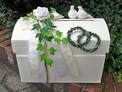 Briefbox mit Verschlu creme wei Geldgeschenke Hochzeit