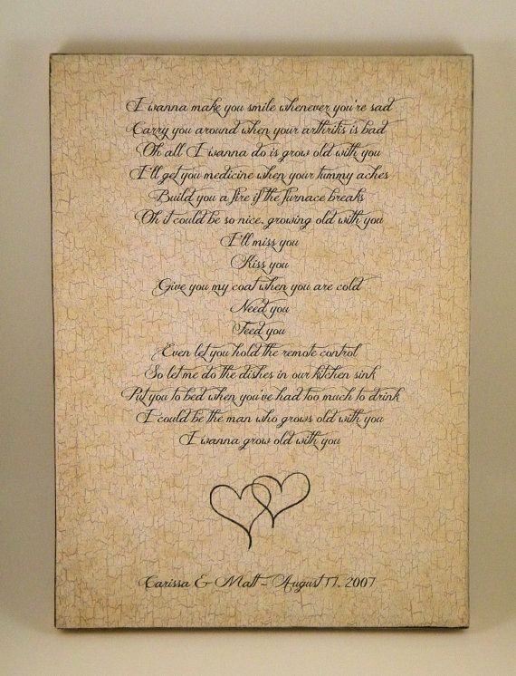 Wedding Vows Quote Song Lyrics Plaque Any By PersonalizedFrames1