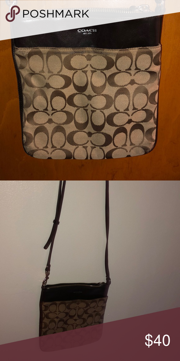 c1c79d6f0 Coach cross body purse Brown, Coach cross body purse. Slightly used but  still in good condition Coach Bags Crossbody Bags