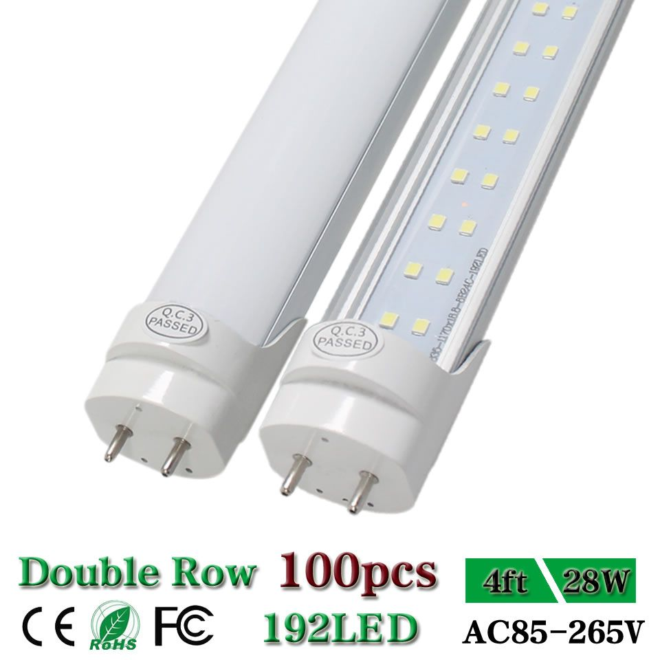 Find More Led Bulbs Tubes Information About Double Row Led 4ft Led Tube Lights T8 G13 Bi Pin 1200mm Shop Light Ceiling Ga Led Tube Light Led Tubes Tube Light