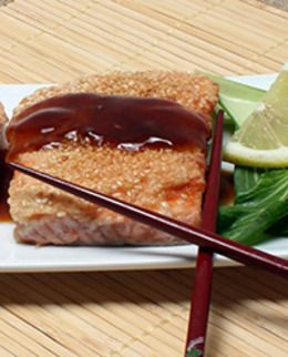 Sesame Salmon that is packed with protein and B vitamins.