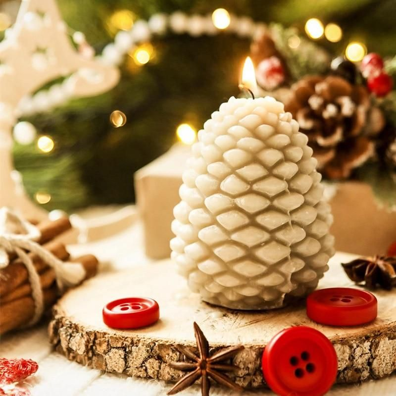 Pine Cone Silicone Mold For Candle Making In 2020 Silicone Candle Molds Candle Making Molds Candle Molds Diy