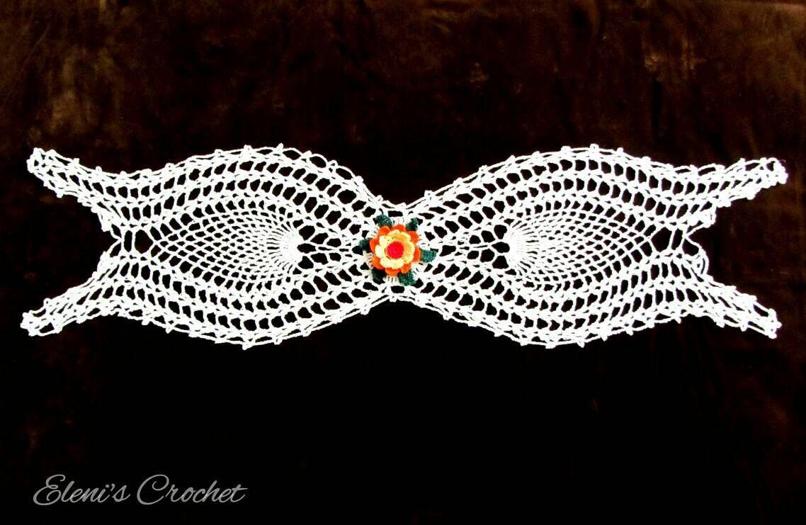 Table Runner Crochet Peacock Table Runner Beautiful Crochet