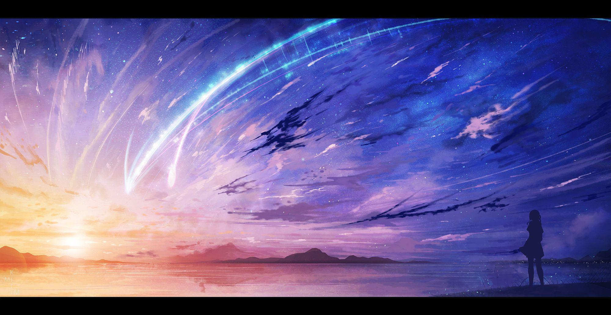 Kimi no Na Wa in 2020 Anime scenery wallpaper, Anime