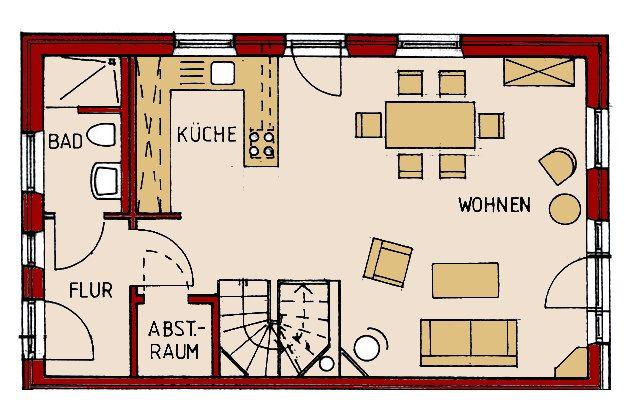 Bildergebnis für offene küche grundriss Küche Pinterest - offene küche planen