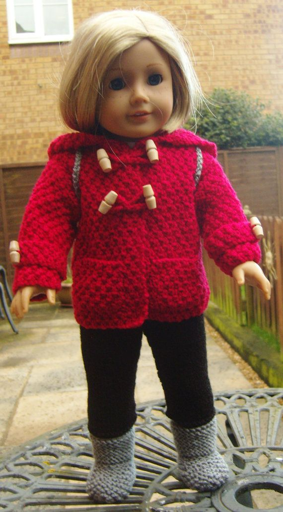 American Girl Doll. Duffel Coat Duo PDF Knitting by jacknitss | DOS ...