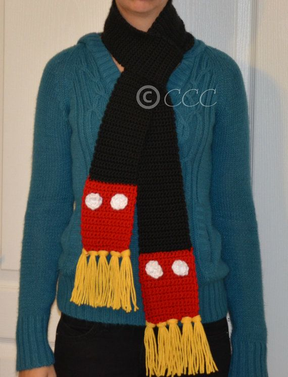 Mickey Mouse Inspired Disney Scarf by coschie on Etsy | monica ...