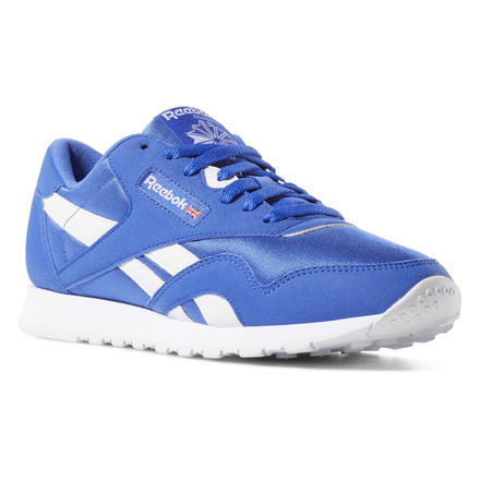 2aebb06afc7e9 Reebok Shoes Unisex Classic Nylon Color in Crushed Cobalt White Size ...