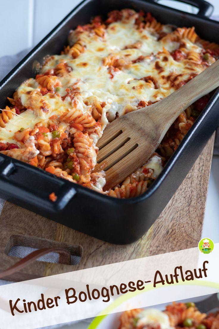Bolognese-Auflauf mit Nudeln und Gemüse für Kinder - MeineStube #crockpotrecipes