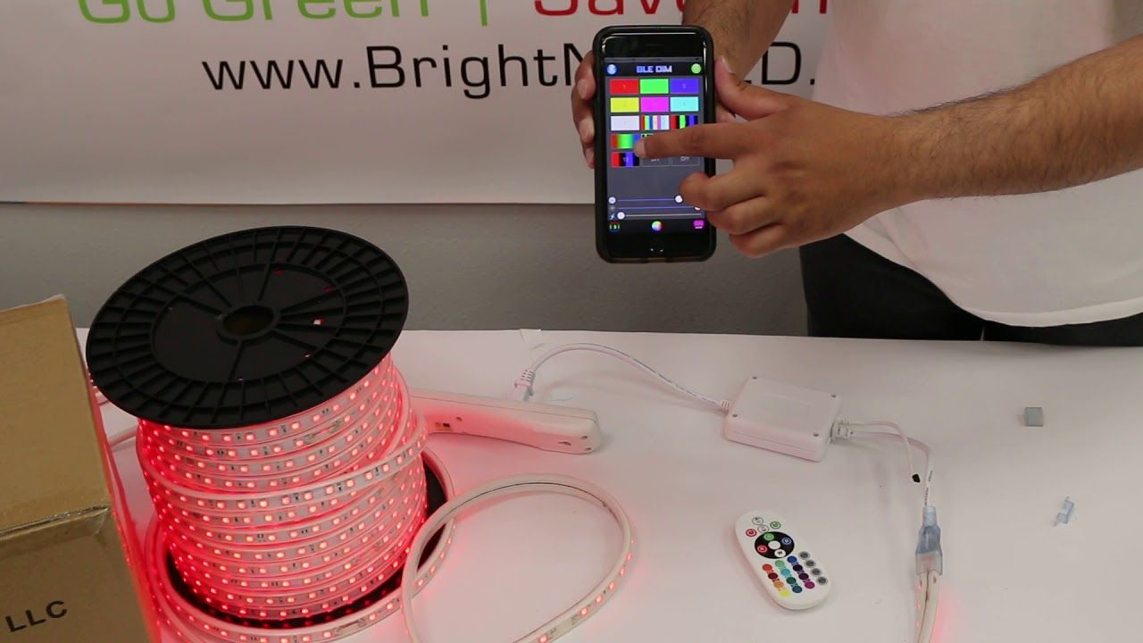 How to install 110V RGB Strip Light Compatible with