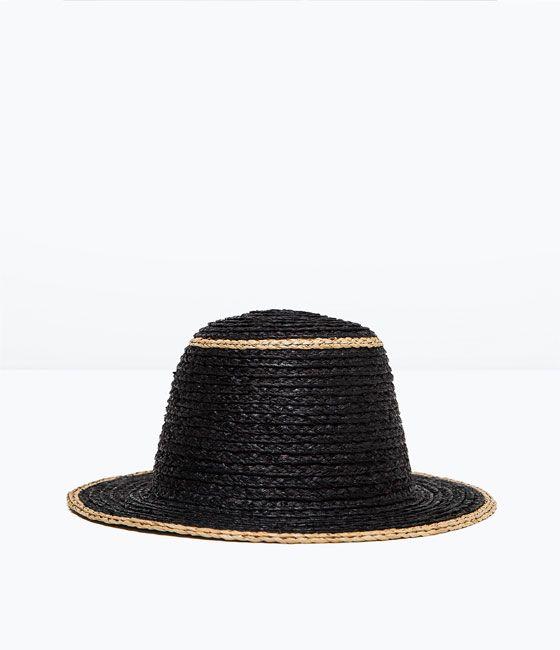 sombrero rafia sombreros accesorios mujer zara españa detalles