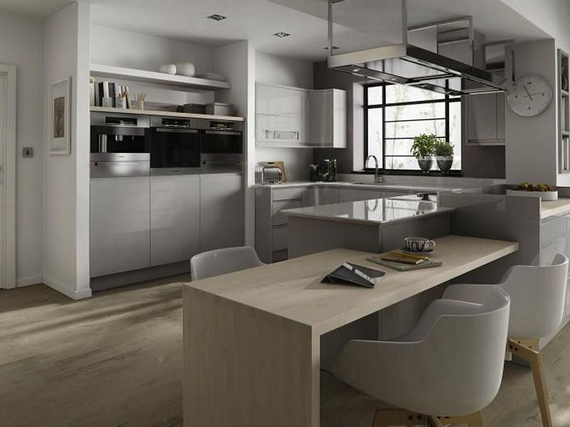 Remo Dove Grey Kitchen Handleless Kitchens Kitchens From Gloss Or - Dove grey kitchen cabinets