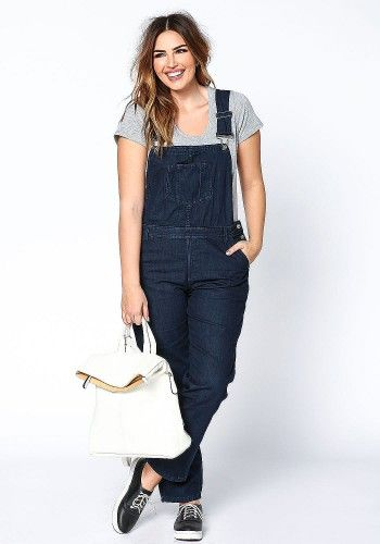 5bf1688b9dc Plus Size Dark Denim Overall