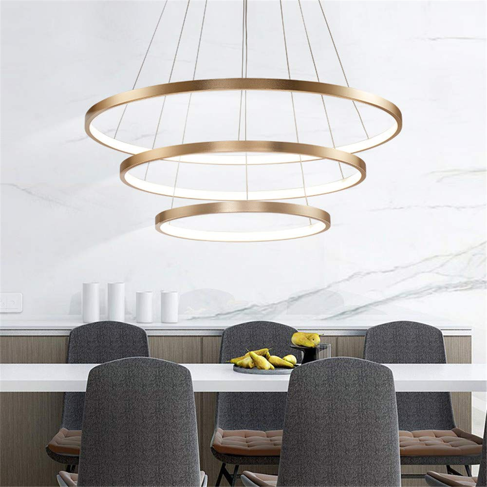 Modern Chandelier Circular LED Simple Pendant Ceiling Lighting for Dining Table
