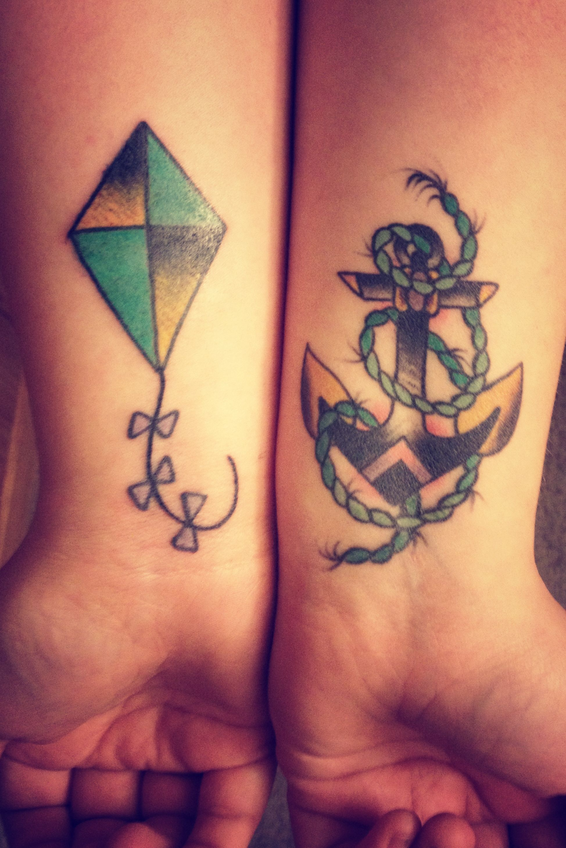 The anchor and the kite tattoos peircings pinterest for 333 tattoo meaning