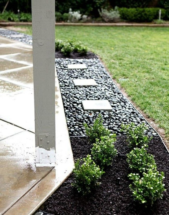 Garden Design With Stones Black Stones For More Style And Drama