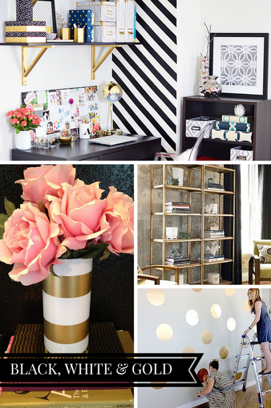a chic black white gold office inspiration board check out more ideas and