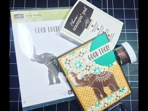 Stampin' Up! Moroccan Lucky Elephant Card| 2017 Occasions Catalog