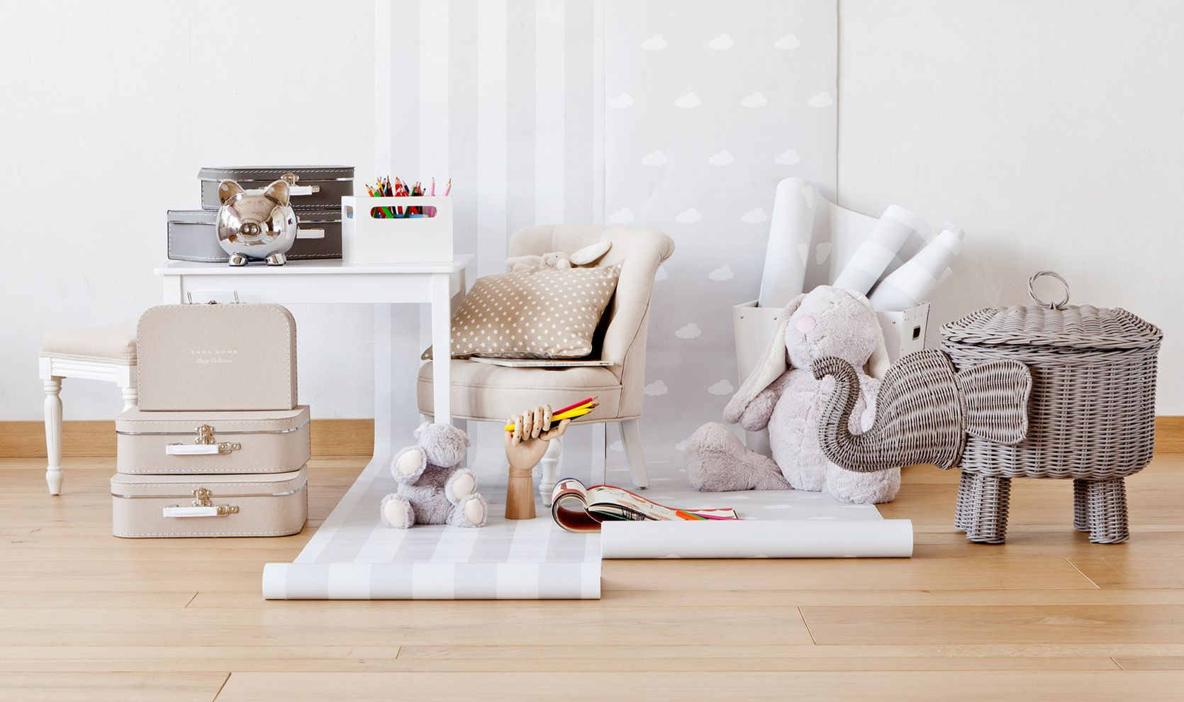 Behang Babykamer Neutraal.Zara Home Netherlands Home Page Kids Room