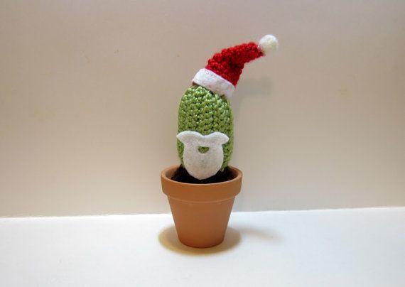 The Santa Claus Cactus  Crochet Plush Cactus with by MadebyJody666