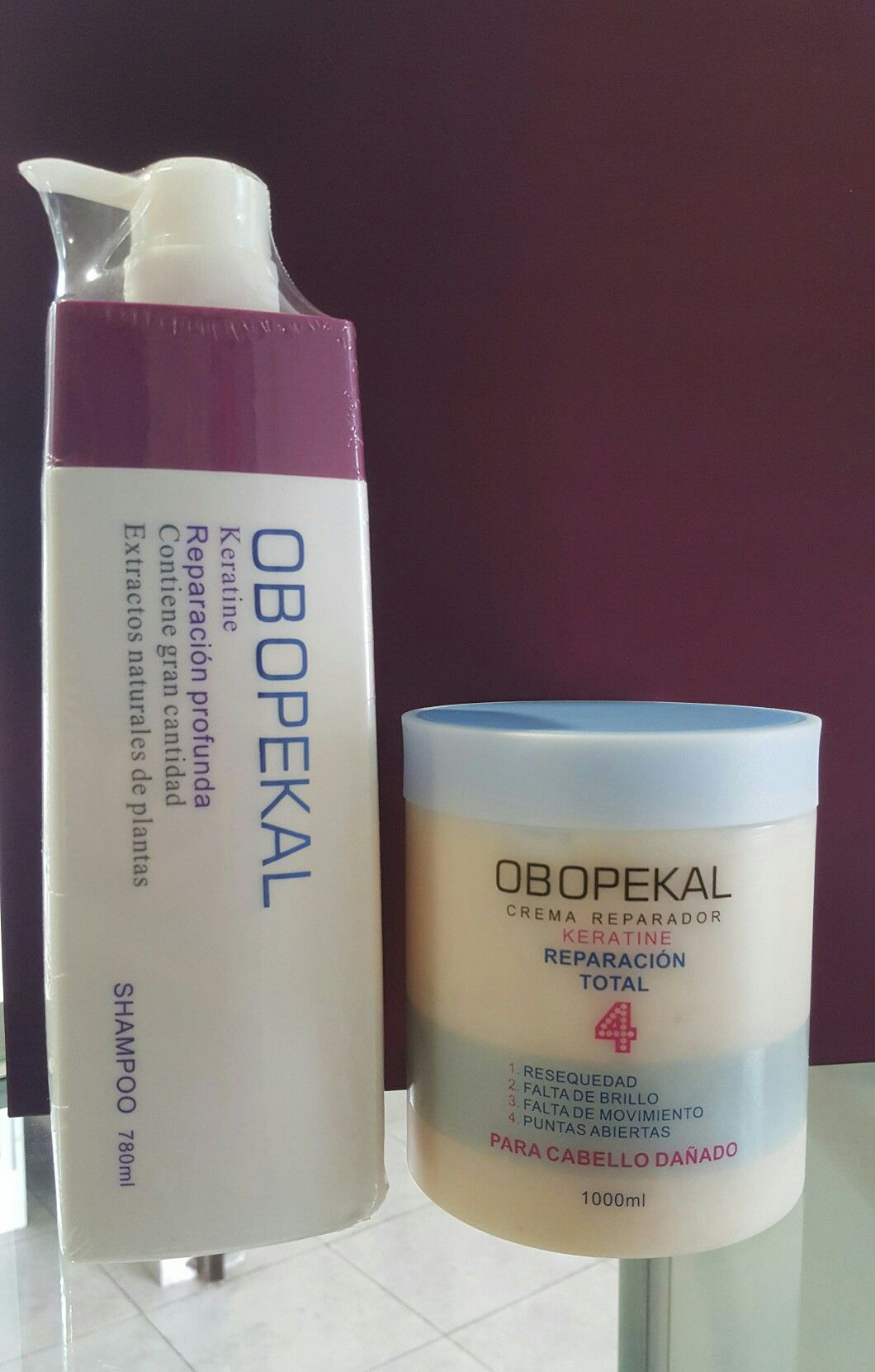 Reparacion Profunda Keratina Shampoo Crema De Tratamiento